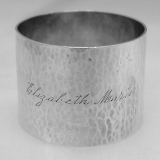.Sterling Silver Hammered Napkin Ring Towle 1930