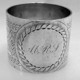 .American Sterling Silver Napkin Ring Gorham 1882