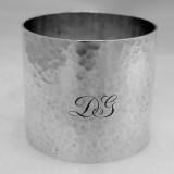 .Sterling Silver Hammered Napkin Ring William Fradley 1900