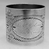 .Sterling Silver Napkin Ring Gorham 1883