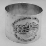 .Sterling Silver Congressional Library Washington DC Napkin Ring 1900