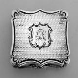 .Nathaniel Mills Vinaigrette 1847 Sterling Silver