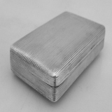 .Large Dutch Tobacco Box 1816 Continental Silver