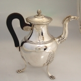 .French 1st Empire Coffee Pot 1810 Figural 950 Silver