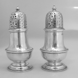 .Pair English Sugar Shakers London 1942 Sterling Silver