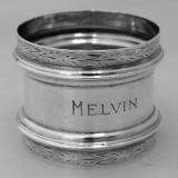 .American Coin Silver Napkin Ring 1890