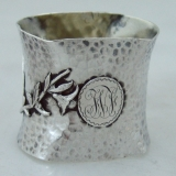 .Aesthetic American Coin Silver Napkin Ring  Wood and Hughes 1880