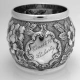 .American Coin Silver Repose Napkin Ring 1880