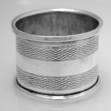 .English Sterling Silver Engine Turn Napkin Ring 1914
