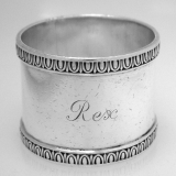 .English Sterling Silver Napkin Ring 1906