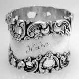 .Baroque Scroll Open Work Napkin Ring Frank Whiting 1890 Sterling Silver
