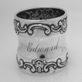 .American Sterling Silver Strasbourg Pattern Napkin Ring by Gorham 1890