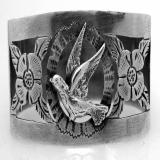 .Portuguese 833 Standard Silver Open Work Napkin Ring 1930