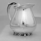 .La Paglia Water Pitcher Blossom Sterling Silver 1950