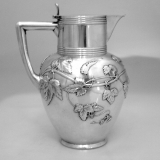 .Anton Michelsen Wine Pitcher Grapes 830 Silver 1898 Danish