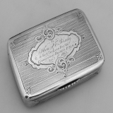 .Snuff Box Civil War Presentation Coin Silver Jan 1st 1863