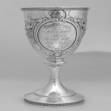 .Presentation Goblet Repousse Wood and Hughes 1874
