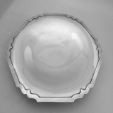 .Dolores Shreve Footed Cake Plate Hammered Sterling Silver 1915