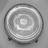 .Footed Salver William Gale Coin Silver 1856