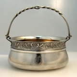 .Aesthetic Basket Schulz and Fischer Sugar Bowl San Francisco Sterling Silver 1875
