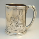 .Whiting Figural Child′s Cup Sterling Silver Massachusettes 1880