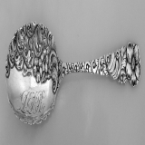 .Berry Spoon Open Work Bowl Handle Floral Scroll Sterling Silver 1885