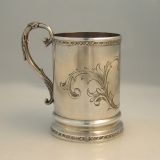 .Child′s Cup Tift and Whiting NY Coin Silver 1853