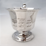 .Double Hexagonal Cup Gale Wood and Hughes Coin Silver 1839