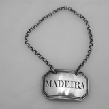.Georgian Bottle Tag Madeira Phipps Robinson 1806 Sterling Silver
