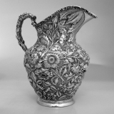 .Water Pitcher Stieff Rose Sterling Silver 1930