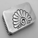 .American Sterling Silver Stamp Box Frank Smith 1890