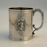 .American Coin Silver Medallion Cup 1865
