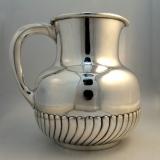 .Sterling Silver Fluted Water Pitcher 1880