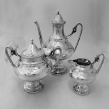 .Gorham for Tiffany and Co. Sterling Silver Tea Set 1868