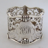 .English Sterling Napkin Ring Open Work Sheffield 1914