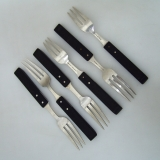 .Allan Adler Dinner Forks Town and Country Arts and Crafts Sterling Silver Ebony