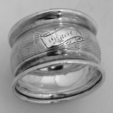 .American Coin Silver Engine Turned Napkin Ring 1870