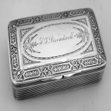 .Sterling Silver Snuff Box Wendt 1870