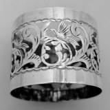 .Sterling Silver Open Work Napkin Ring 1910