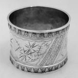.American Coin Silver Napkin Ring 1882