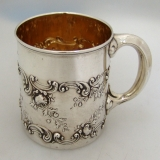 .Gorham Sterling Silver Baby Cup 1897