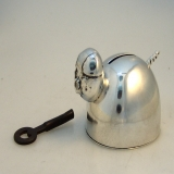 .Sterling Silver Piggy Bank With Lock and Key 1935