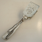 .Sterling Silver Sandwich Tongs With Openwork Decorative Embellishment 1890
