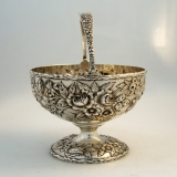 .Repousse Sugar Basket  S. Kirk and Son Sterling Silver Baltimore 1920