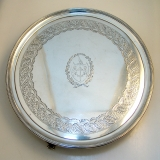 .Georgian Period Sterling Silver Salver London 1799