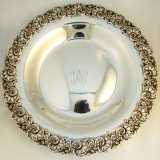 .Floral Scroll Large Serving Dish Shreve and Company 1910 Sterling Silver