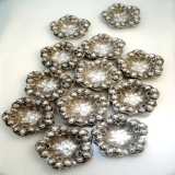 .Set of Twelve Sterling Silver Repousse Nut Dishes William Kerr 1900 No Monogram