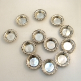 .Ornate Open Salt Dishes12 Shreve and Co Sterling Silver 1920