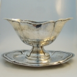 .Italian 800 Silver Gravy Boat With Underplate 1760