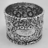 .Stieff Repousse Napkin Ring Sterling Silver 1910
